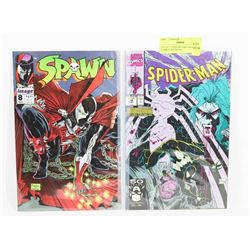 LOT OF 2 TODD MCFARLANE COVER COMICS, SPAWN #8