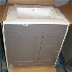 NEW LUXO MARBLE VANITY AND SINK KIT 2 DRAWER