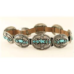Navajo Turquoise & Sterling Concho Belt