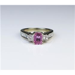 Sophisticated Pink Sapphire & Diamond Ring