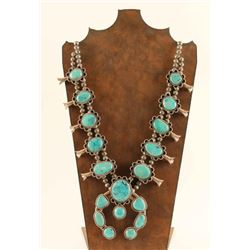 Beautiful Old Pawn Squash Blossom Necklace