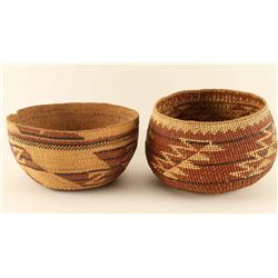 Lot of 2 Hupa Baskets