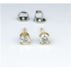 Brilliant Pair of Diamond Stud Earrings