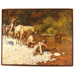 Fine Art Giclee on Canvas by Howard Terpning