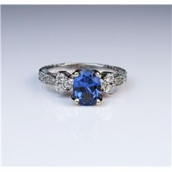 Elegant Tanzanite & Diamond Ring