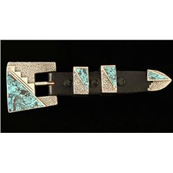 Zuni Inlaid Buckle & Keeper