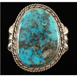 Old Pawn Sterling Silver & Turquoise Ladies Cuff