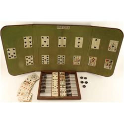 Antique Faro Board, Game Keeper & more