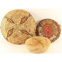 3 Native American Baskets