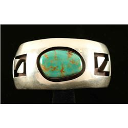 Turquoise & Sterling Shadowbox Cuff