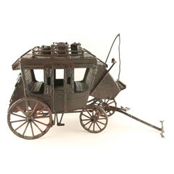 Large Metal Stagecoach