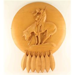 """End of the Trail"" Wood Carving"