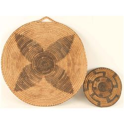 Collection of 2 Pima Basketry Trays