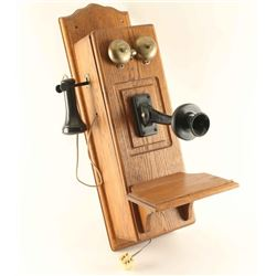 Oak Antique Telephone