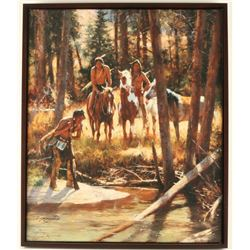 Fine Art Print on Canvas by Howard Terpning