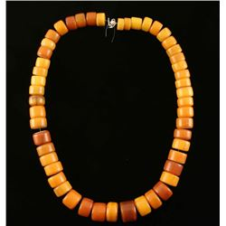 Large String of Honey Amber Beads