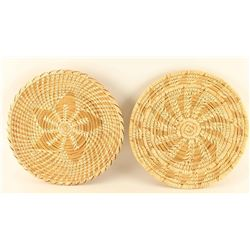 Collection of 2 Tohono O'odham Pine Needle Baskets