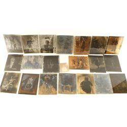 Lot of Antique Glass Plate Negatives