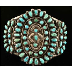 Old Pawn Turquoise Cluster Bracelet