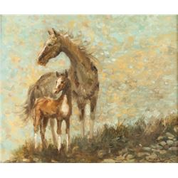 Original Oil on Board by Wallace Fisher