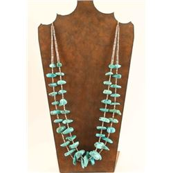 Two Strand Turquoise Nugget Necklace