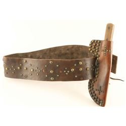 Spotted Belt with Knife Sheath