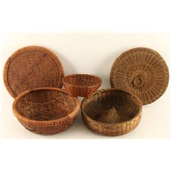 Lot of 3 Native Baskets