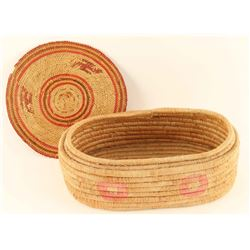 Lot of 2 Native Basketry Items