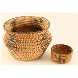 Lot of two Pima Baskets