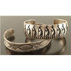 (2) Native American Indian Cuff