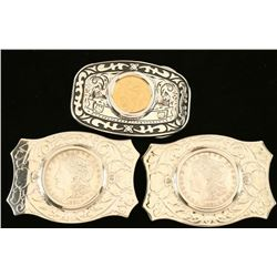 Collection of 3 Belt Buckles