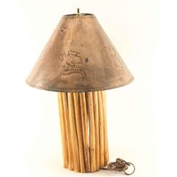 Saguaro Lamp with Copper Shade