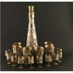 Abalone on Copper Tequila Set
