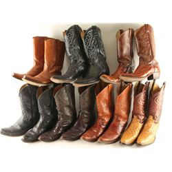 Seven Pairs of Cowboy Boots