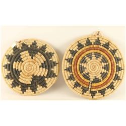 Collection of 2 Hopi Basketry Trays