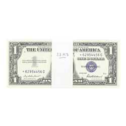 Lot of (23) Consecutive 1957 $1 Silver Certificate STAR Notes Uncirculated