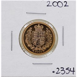 2002 Great Britain Elizabeth II Sovereign Gold Coin