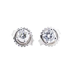 14KT White Gold 0.45 ctw Diamond Earrings