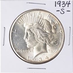 1934-S $1 Peace Silver Dollar Coin