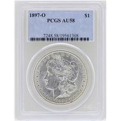 1897-O $1 Morgan Silver Dollar Coin PCGS AU58