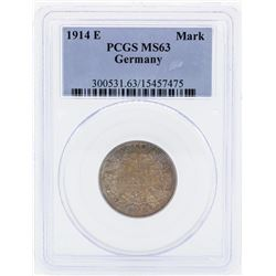 1914-E Germany 1 Mark Coin PCGS MS63