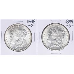 Lot of 1898-O to 1899-O $1 Morgan Silver Dollar Coins