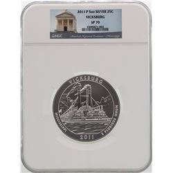 2011-P America the Beautiful Vicksburg 5 Ounce Silver Coin NGC SP70