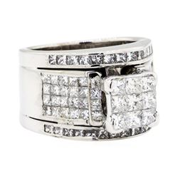 18KT White Gold 3.50 ctw Diamond Ring
