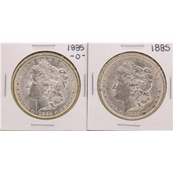 Lot of 1885-O & 1885 $1 Morgan Silver Dollar Coins