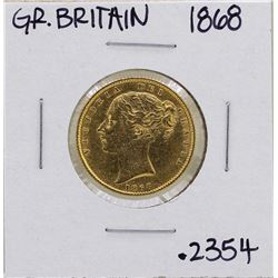 1868 Great Britain Victoria Sovereign Gold Coin