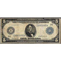 1914 $5 Federal Reserve Note Philadelphia