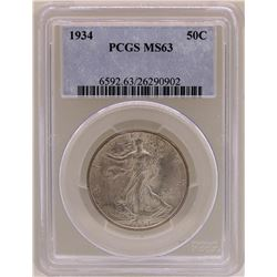 1934 Walking Liberty Half Dollar PCGS MS63