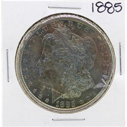 1885 $1 Morgan Silver Dollar Coin Amazing Toning