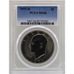 1971-D Eisenhower Ike Dollar PCGS MS66